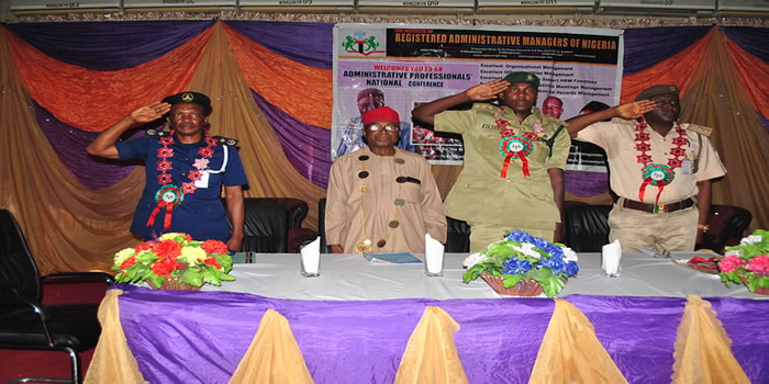 Para-Military Officers Taking Salute At The 2019 IRAMN National Conference In Kaduna